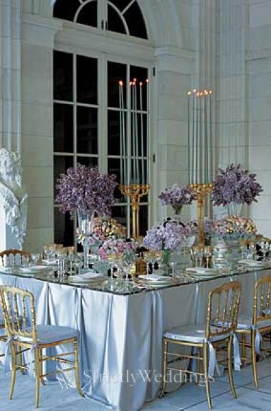 The best designers spin standard wedding reception tables into magical
