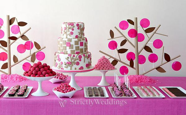 Stylized dessert tables capture the element of surprise as a sweet