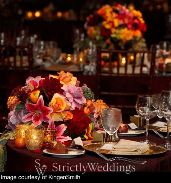 Fall Wedding ideas You can even take the fall theme into your food choices