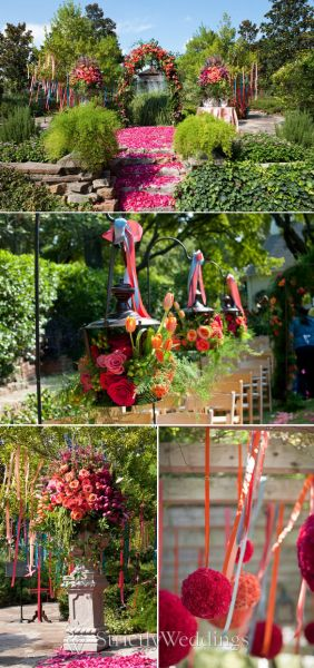 One way to create a true gardenthemed wedding is to really concentrate on