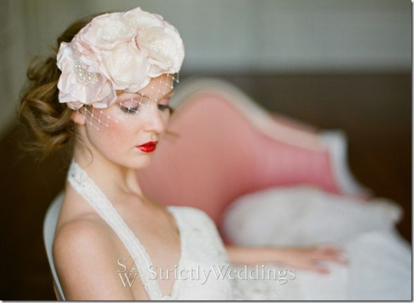 We found these lovely hair accessories by Jannie Baltzer for the bride who