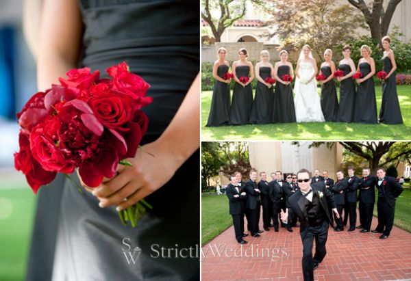 Red Black And Silver Wedding Decorations