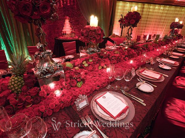 Wedding Reception Decor - Ritzy, Bold, Lush | Strictly Weddings