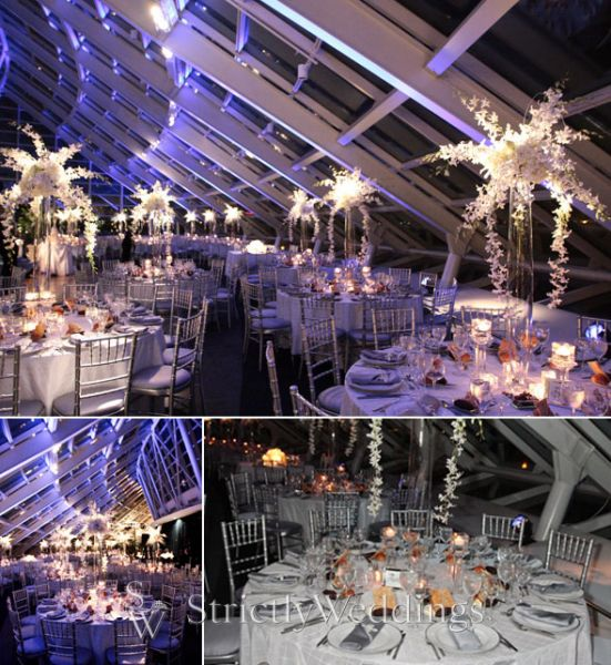The Wedding Reception Candlelight Centerpieces