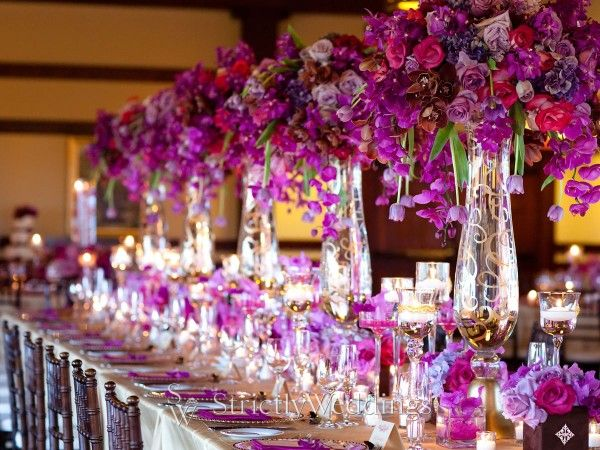 Purple and Gold Wedding  Gourmet Invitations