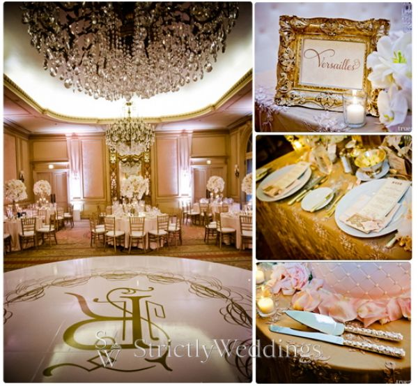 Ballroom collage Stunning French Vintage Inspired SoCal Wedding