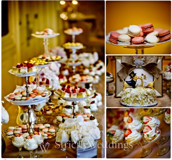 Dessert table Stunning French Vintage Inspired SoCal Wedding