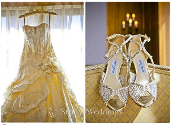 Dress and Shoes Stunning French Vintage Inspired SoCal Wedding