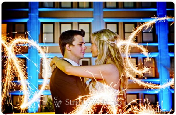 Fireworks top pic Stunning French Vintage Inspired SoCal Wedding