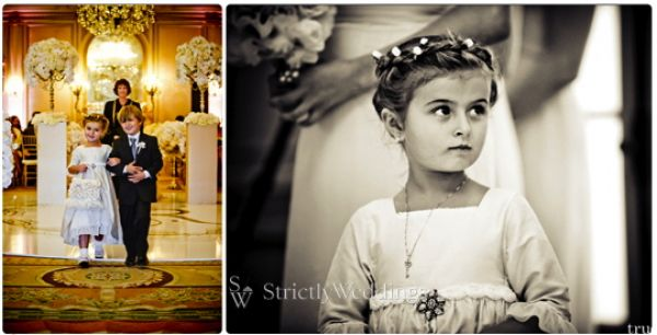Flower Girl and ring bearer Stunning French Vintage Inspired SoCal Wedding