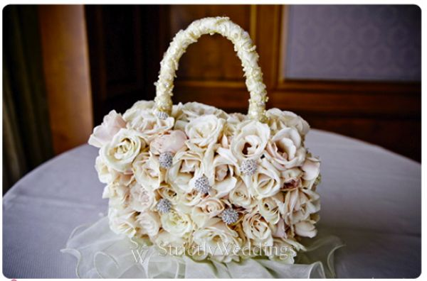 Flowergirl bag Stunning French Vintage Inspired SoCal Wedding