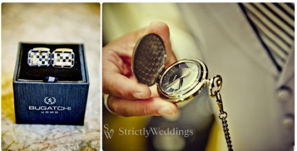 Groomsmen cuff links and watch Stunning French Vintage Inspired SoCal Wedding