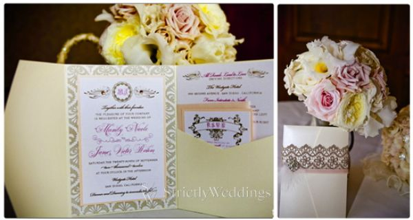 Invitation Stunning French Vintage Inspired SoCal Wedding