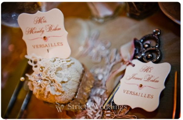 Mandy and Jamie Escort Stunning French Vintage Inspired SoCal Wedding