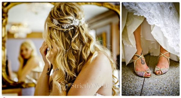 Shoes and Earing shot Stunning French Vintage Inspired SoCal Wedding
