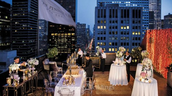 Dramatic rooftop weddings strictly weddings for Best wedding locations nyc