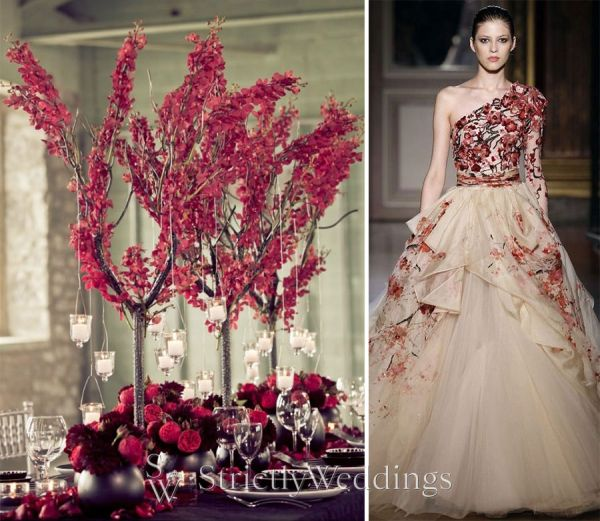marsala fall winter 2015 color trends strictly weddings