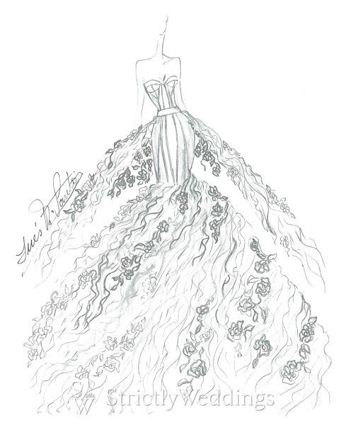 NYC Wedding Dress Sketches