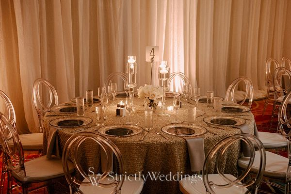 Romantic Candlelight Wedding with Neutral Tones