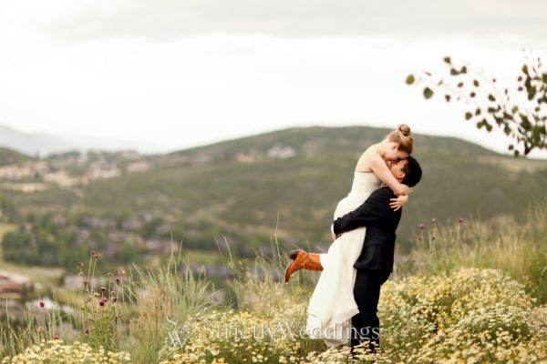 Black and White Wedding in Utah