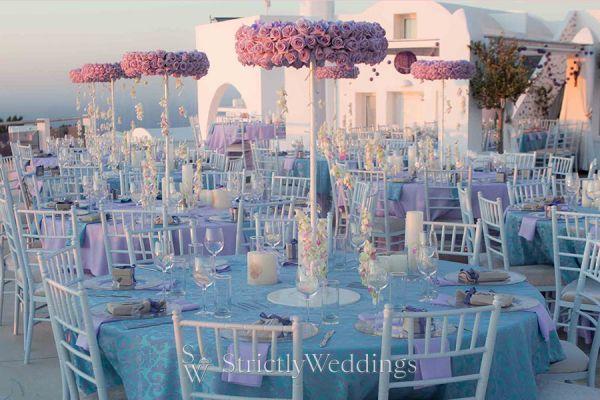 Lavender Wedding in Santorini