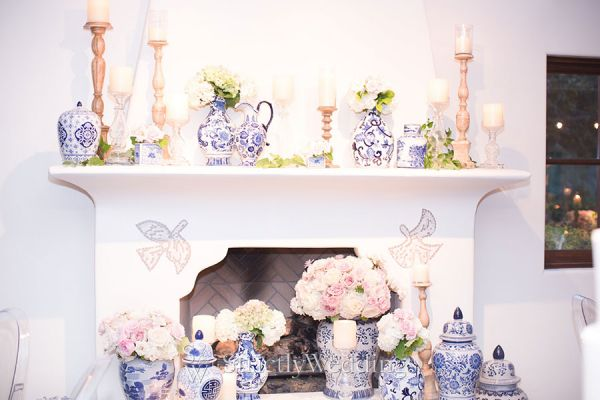 Blue and White Wedding + Chinoiserie Details