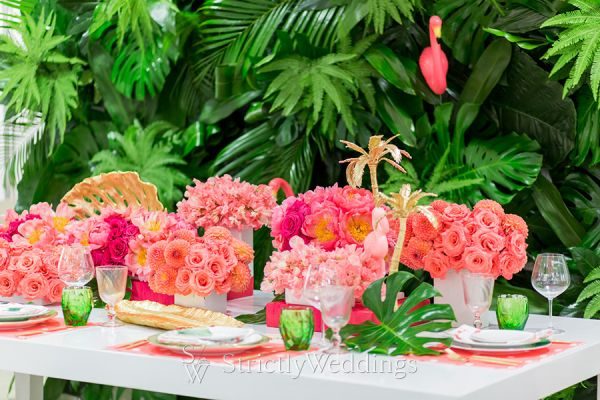 Coral Colored Summer Resort Wedding Ideas