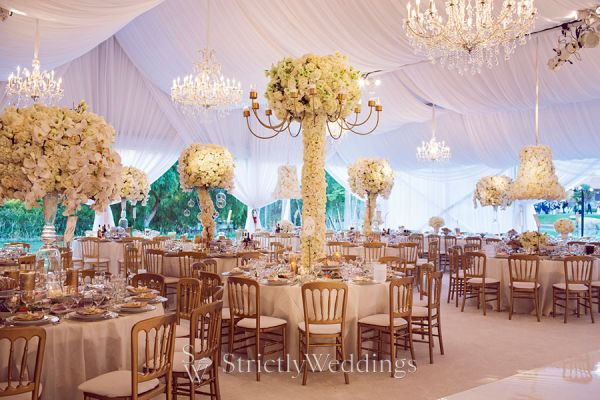 Lavish White Gold California Wedding