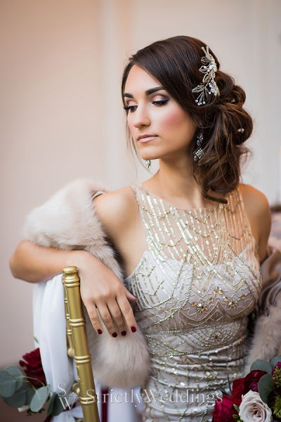 Winter Vintage Wedding Glam
