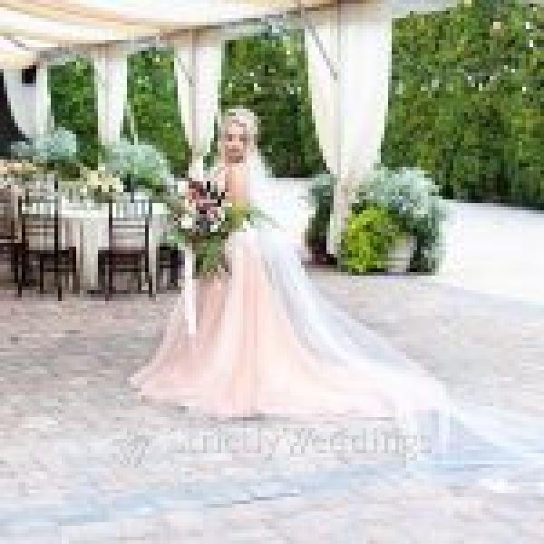 Kelly Faetanini Blush Wedding Dress | Strictly Weddings