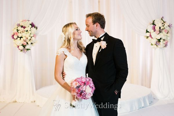 Elegant Cleveland Wedding Awash in Lavender and Blush