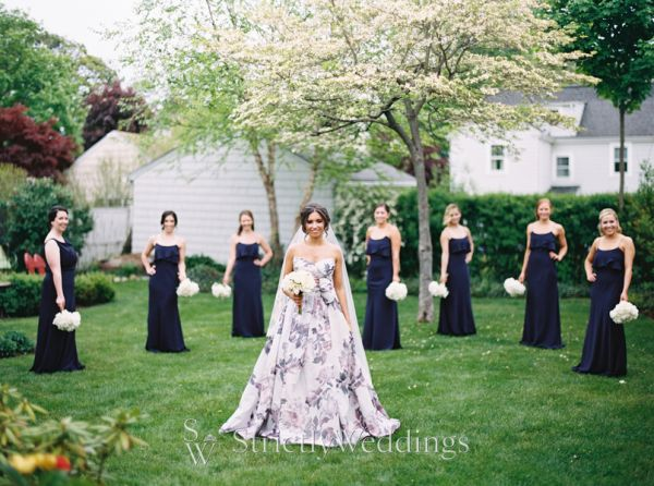 Luxurious Outdoor Affair with a Statement Wedding Dress