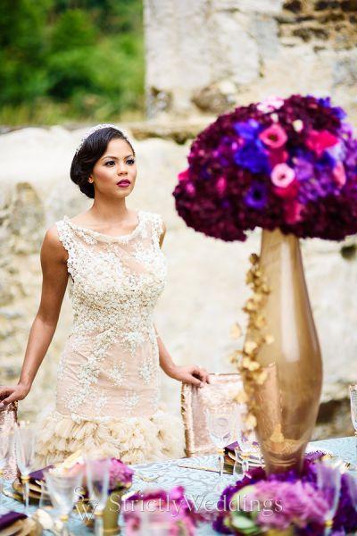 A Jewel Tone Wedding Color Palette