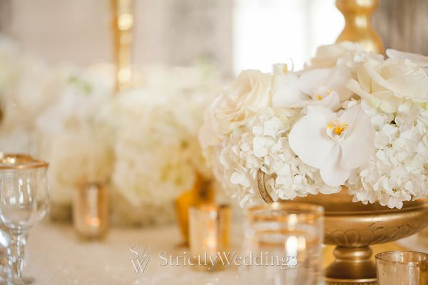 Glamorous Ivory and Gold Wedding Details