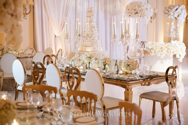 Ivory and Gold Monarch Beach Resort Wedding