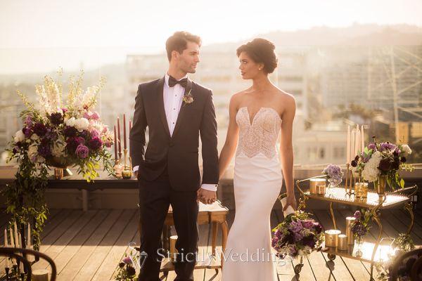 Vintage Elegance Meets Hollywood Wedding Glam