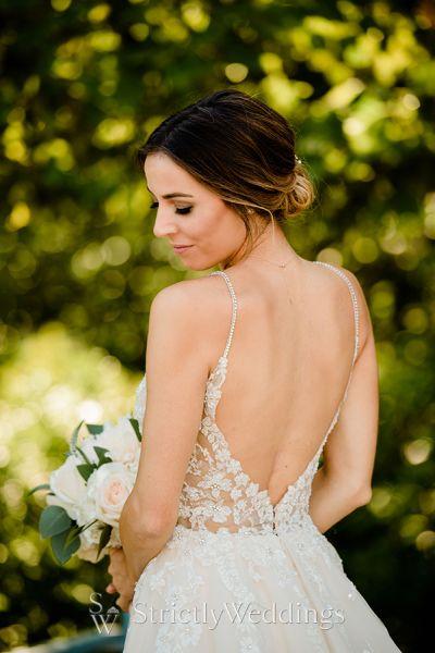Real Enzoani Bride Cleveland Botanical Garden Wedding Day
