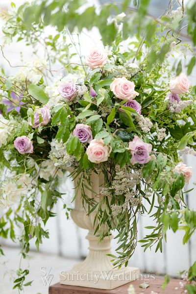 Chic Bridal Glam Infused with Blush Blooms